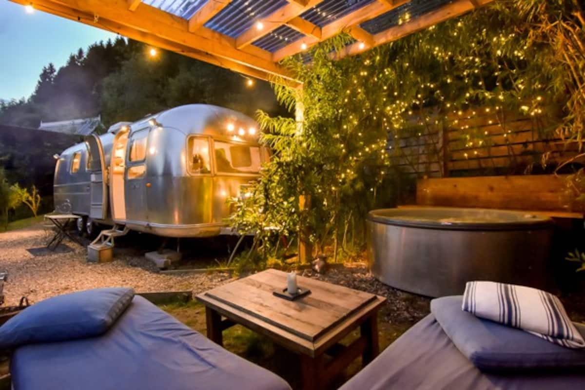 Unique Airbnb in Scotland - Luxury Airstream Caravan