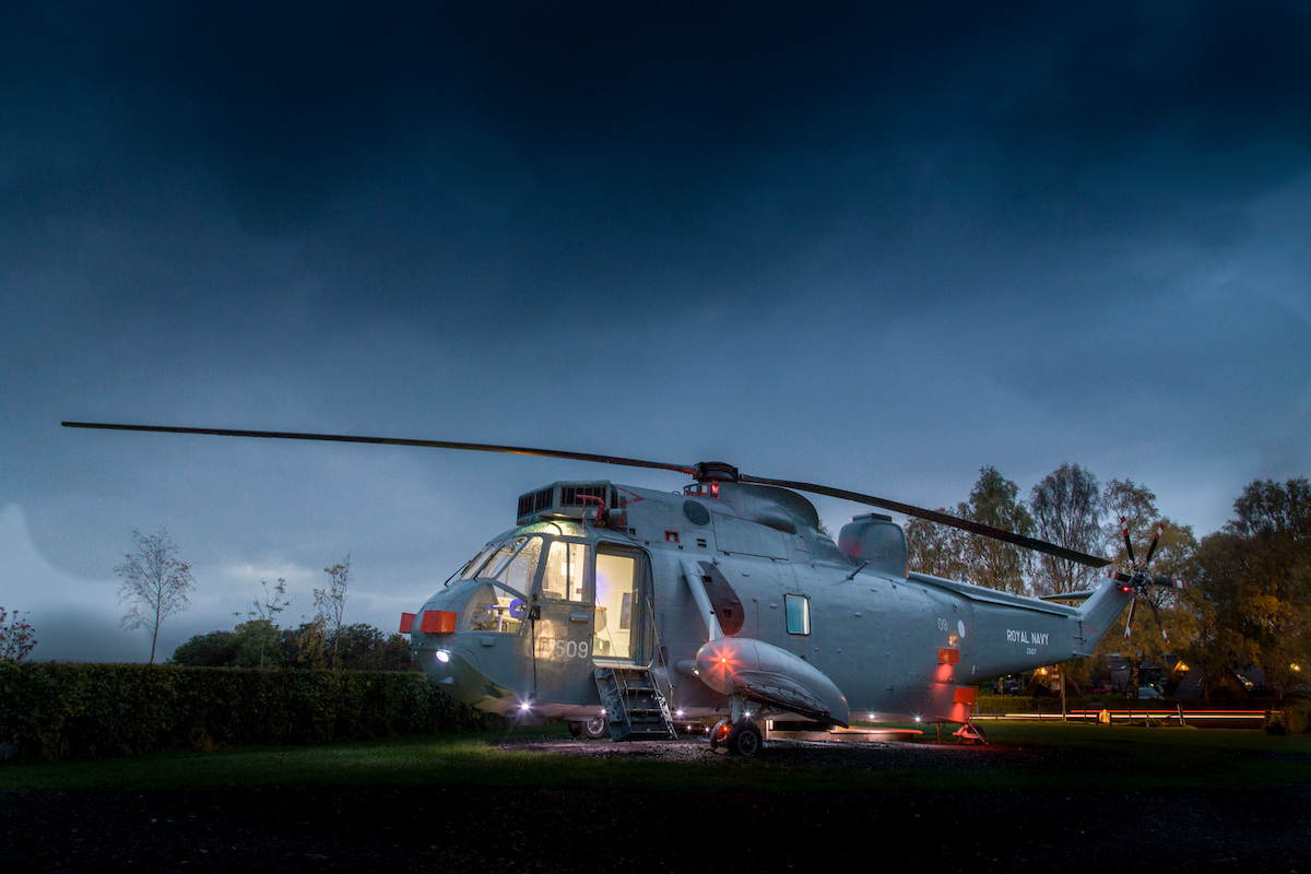 Unique Airbnb in Scotland - Helicopter Glamping