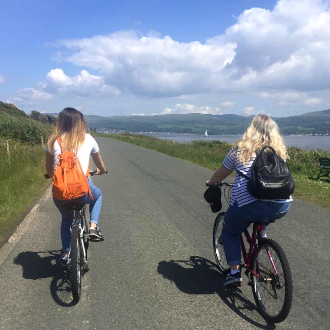 Cycling in Millport The Coig