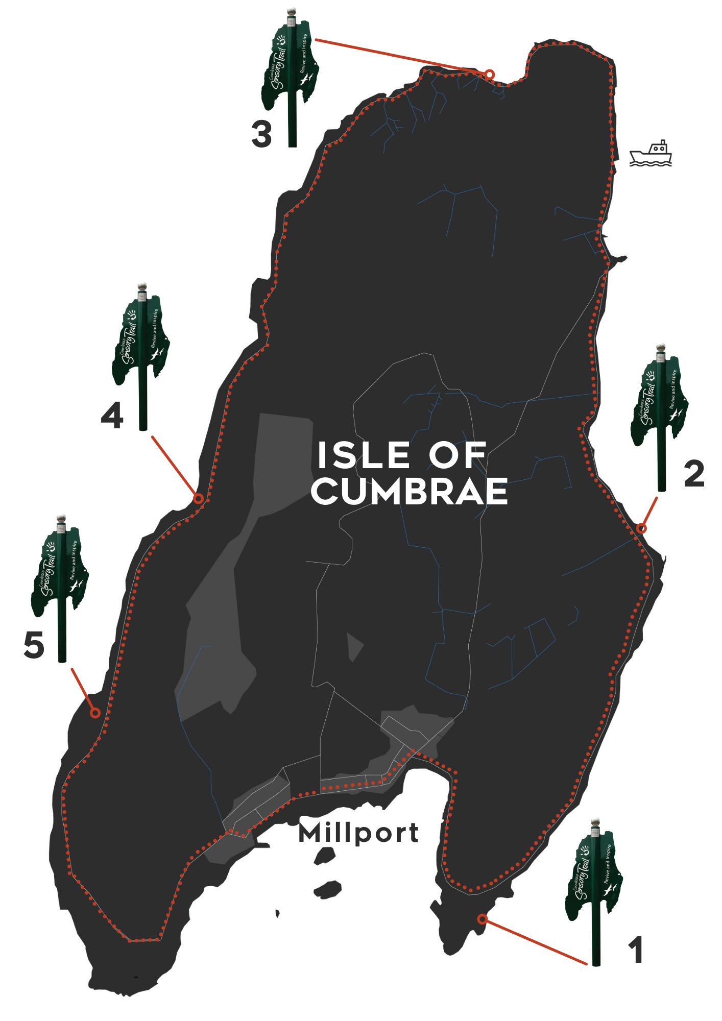 Cumbrae Sensory Trail Map