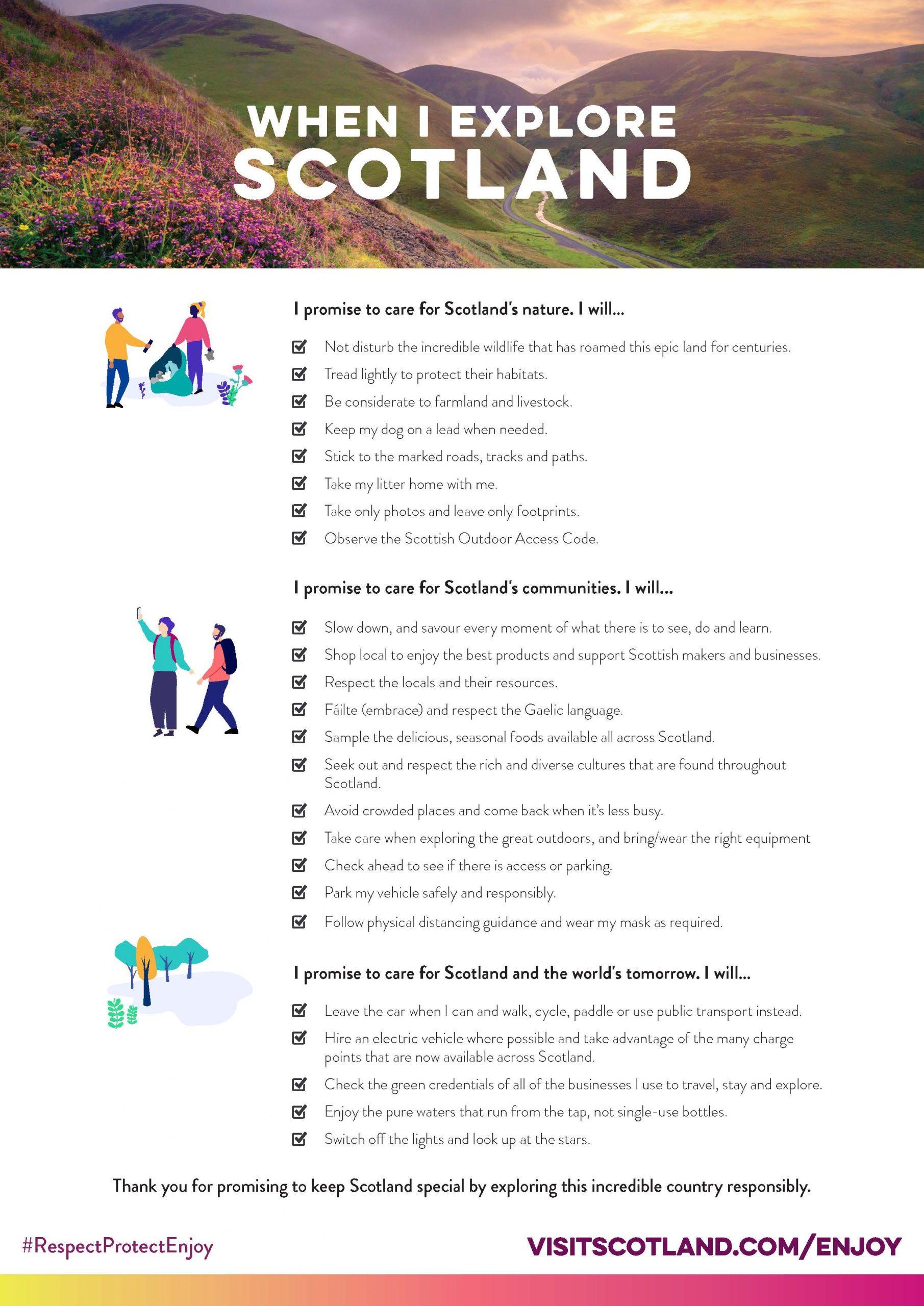 VisitScotland's Visitor Pledge